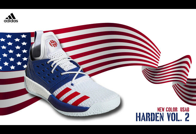Adidas James Harden Harden Harden Vol 2 Olympic Team USA Independence Day Basketball 12 shoes 6b8b20