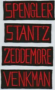 Ghostbusters-Video-Name-Tag-Patches-Set-STANTZ-VENKMAN-SPENGLER-ZEDDEMORE