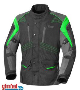 IXS-Moto-Veste-Textile-Veste-034-Tarel-034-Noir-Vert-Gun-Metal-1-a-Top-Qualite