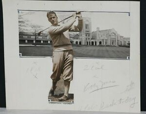 Details About 1925 Bobby Jones Iconic Golf Swing Unique Orig Photo Art Collage W Clubhouse