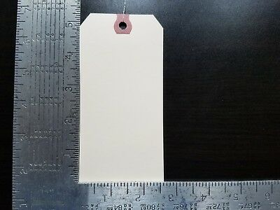 """50-2-5//8/"""" x 5-1//4/"""" WIRED MANILA TAG HANG LABEL SHIPPING INVENTORY STOCK SIZE 6"""