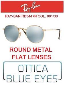 efc4c72b0935 Image is loading RAYBAN-Sunglasses-rb3447n-001-30-round-metal-flat-