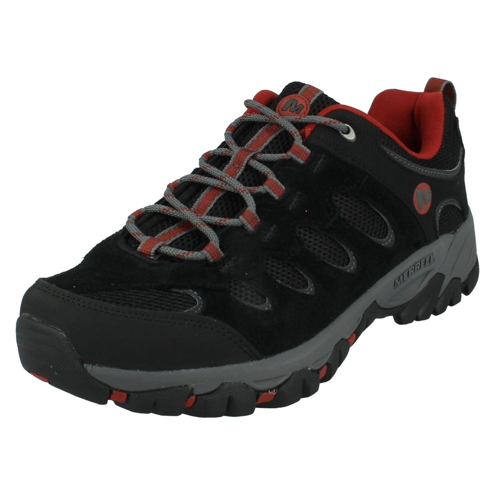 Zapatillas para hombre ridgepass Negro Rojo por Merrell-Precio