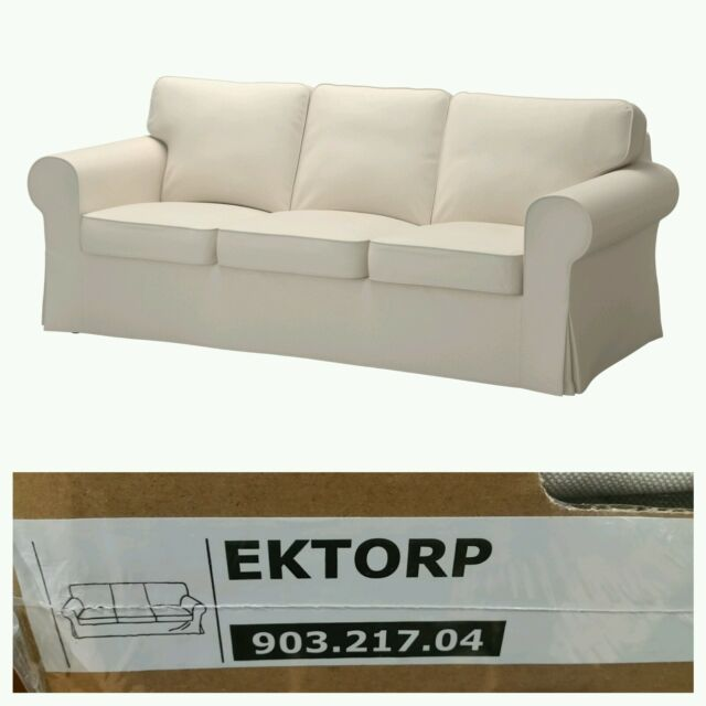 IKEA EKTORP Sofa Slipcover Cover 3 Seat Lofallet Beige (Cover Only)    903.217.