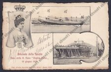 LA SPEZIA CITTÀ 101 ARSENALE - VARO NAVE ELENA 1904 - SHIP Cartolina viaggiata