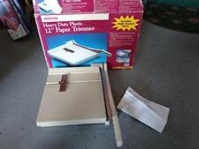 Boston Paper Cutter 12 Trimmer Heavy Duty Guillotine Usa