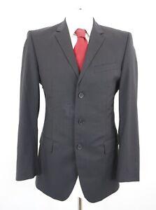 JOOP! Anzug Melville Bank Gr.48 schwarz Nadelstreifen Einreiher 3-Knopf -C23