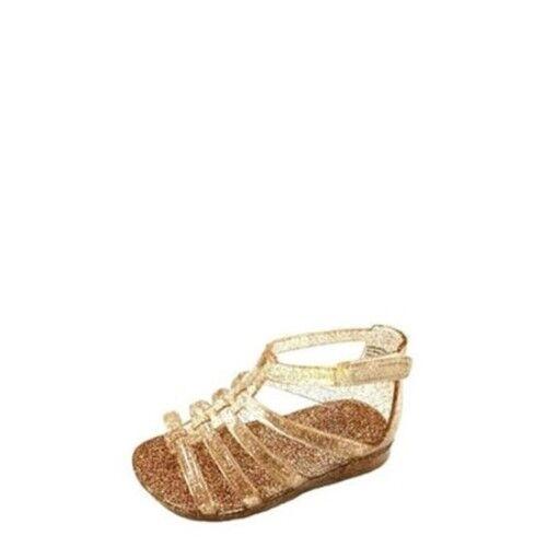 a87421099f0 Garanimals Infant Toddler Girls Sparkle Gladiator Shoes Gold Size 5 ...