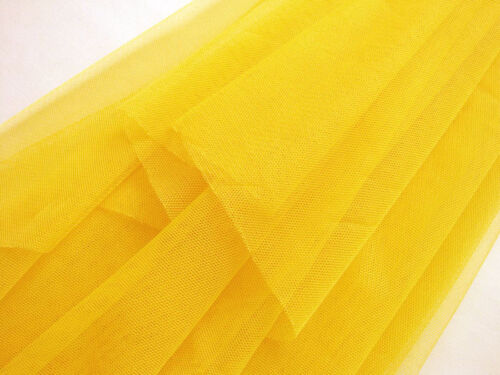 Q42 Orange Yellow Soft Mesh//Net Fabric Decor by Meter