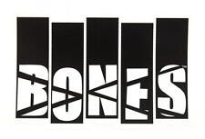 POWELL / BONES WHEELS -  Black Flag - Skateboard Sticker -