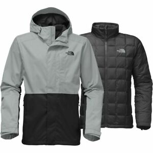 Details about The North Face Men s ALTIER DOWN TRICLIMATE 3-in-1 Insulated  Jacket Grey Black M 38f9e2390183