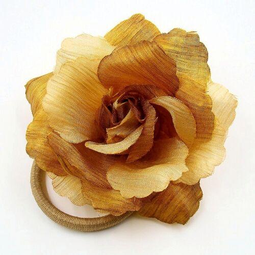 2x oder 4x HAARBLUME Rose Ansteckblume Haarspange//gummi Krokodilspange 1x