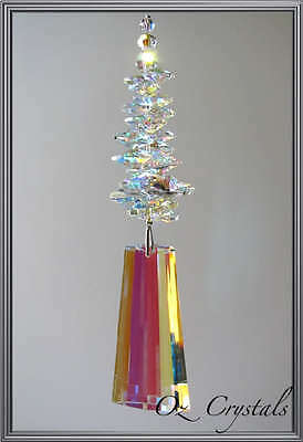 Huge Suncatcher Made With 80mm Swarovski Crystal AB Wing - Small Chip on Wing