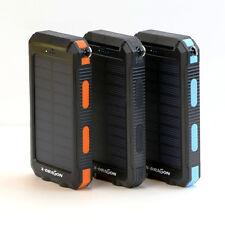 Waterproof 300000mAh Solar Power Bank 2USB Battery Portable Charger