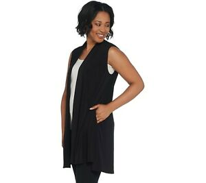 Every-Day-by-Susan-Graver-Liquid-Knit-Open-Front-Vest-Black-Large-A310086