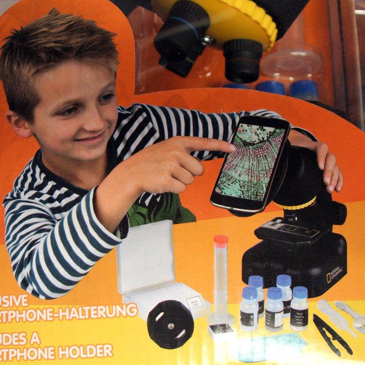 National Geographic Mikroskop 40x-640x mit Smartphone Smartphone Smartphone Halter 880c7c