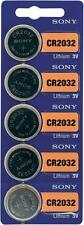 5 x Sony Batterie CR2032 Lithium 3V Knopfbatterie CR 2032 NEU