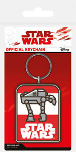 Star Wars The Last Jedi (AT-M6) Rubber Keychain / Keyring *OFFICIAL*
