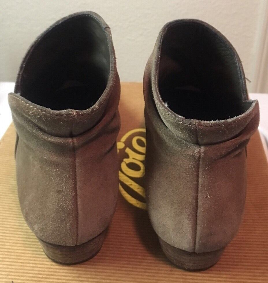 JOIE Morrison Tan Suede Leather Leather Leather Ankle Stiefel 7.5 021b20