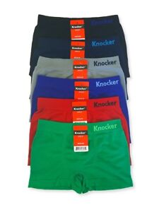 4ee799cc66a9 Image is loading 6-PACK-Knocker-Boy-Preteen-Seamless-Extra-Stretch-