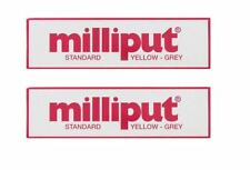 2 X Milliput Standard 2 Part Epoxy Putty Grey Yellow Modelling DIY   113g /  4oz