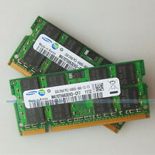 Samsung 4GB 2x2GB PC2-6400 DDR2 800 800Mhz 200pin DDR2 Laptop Memory SO-DIMM RAM