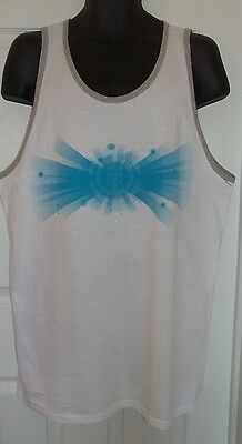 Element XX-Large 2XL White With Grey Graphic Muscle Tank Top Tee Shirt T-Shirt