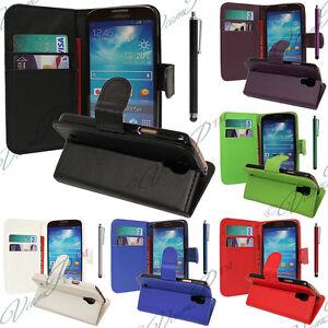 Housse-Etui-Coque-Portefeuille-Suppport-Video-Samsung-Galaxy-S4-Mini-Plus-I9195I