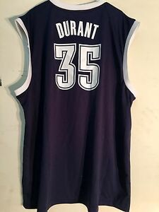 competitive price 8f465 917a8 Details about Adidas NBA Jersey Oklahoma City Thunder Kevin Durant Navy Alt  sz 2X