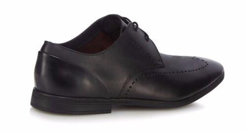 De Zapato Cuero Clarks Negro Bampton Cordón Hombre Limite 6CqIZwqf