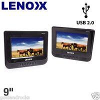 Dvd Player Cd Player Dual Screen Portable Car Multi-region 9 Colour Lcd Sd/mmc