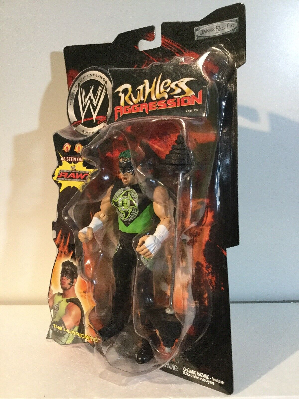 MOC WWE Ruthless Aggression Series 4 The Hurricane 2003 Jakks Pacific