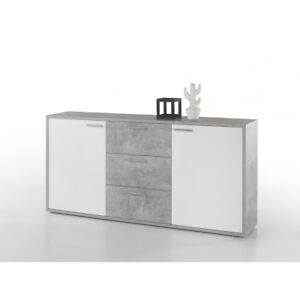 mountain beton grau hg wei highboard kommode sideboard ca 180 cm ebay. Black Bedroom Furniture Sets. Home Design Ideas