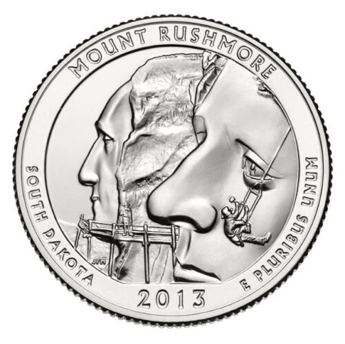ATB Quarter From US Mint Roll 2013 S Mount Rushmore South Dakota