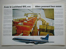 8/1968 PUB LOCKHEED L-1011 TRISTAR AIRLINER HOTESSE DE L'AIR ORIGINAL FRENCH AD