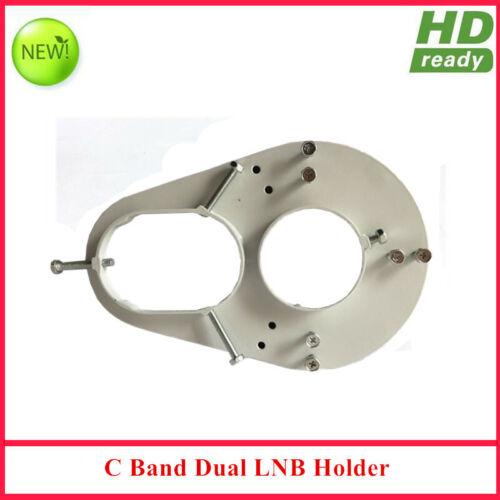 C band dual LNB holder used on C band dish antenna