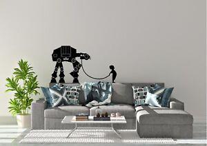 Walking-The-At-At-Star-Wars-Banksy-Inspired-Design-Wall-Art-Decal-Vinyl-Sticker