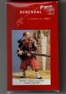 DURENDAL MINIATURES RN001 - 2eme ZOUAVES SERGENT-CHEF MAGENTA 1859 - 54mm METAL