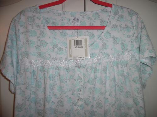 lunga Bianco Cotton Blu Manica Camicia Xl Aria Blend Fiore Nwt notte Grigio corta da PAwndxf6d