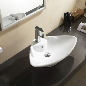 free standing countertop basin sink shell unit ceramic suit bathroom cloakroom ebay. Black Bedroom Furniture Sets. Home Design Ideas