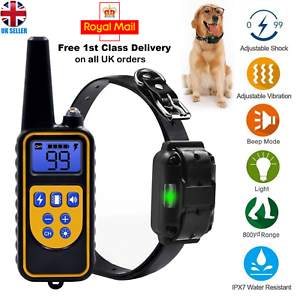 Pet Dog Waterproof Training Collar Rechargeable Electric Shock LCD Display 800m 709112180999