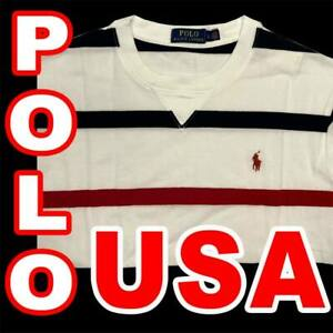 POLO RALPH LAUREN USA STRIPED SHIRT CLASSIC FIT LONG SLEEVE RED WHITE BLUE 2XL