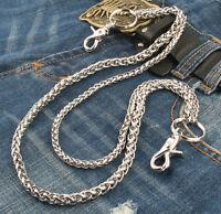 Double Roof Durable Basic Biker Trucker Key Jean Wallet Chain (24) Silver Ncs68