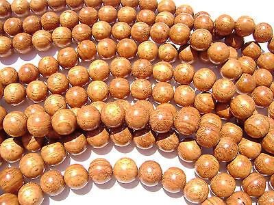 "CL-03 Wood Bead Bayong Handmade Brown Wax Polished Round 12mm 16"" strand"
