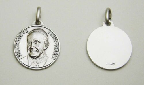 Pope Francis Sterling Silver 925 21mm Italy