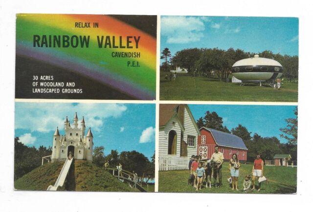CAVENDISH, PRINCE EDWARD ISLAND multi-view postcard showing Rainbow Valley