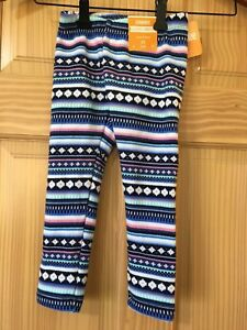 6be3d3ec721fb NWT Gymboree Warm and Fuzzy Purple Blue Fair Isle Leggings Girls 3T ...