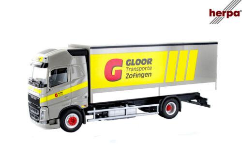 "novedad 2019 Herpa 937726 volvo gl13 maleta-camiones 2a /""gloor/"""