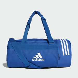 Details About Adidas Convertible 3 Stripes Duffel Bag Training Gym Sport Travel Blue Small