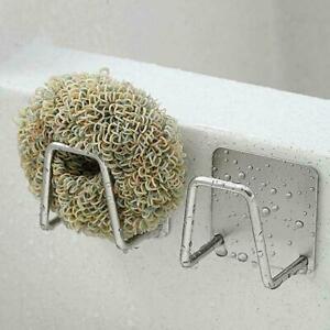 Kitchen-Sink-Faucet-Sponge-Storage-Rack-Stainless-Steel-Drying-Holder-T9M3